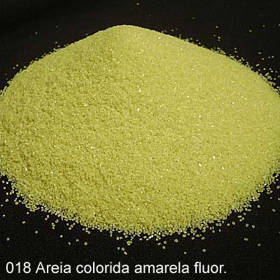 Areia Colorida Amarela Fluor