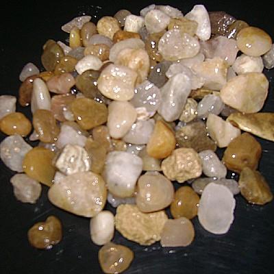 Pedra seixo de rio para aquário